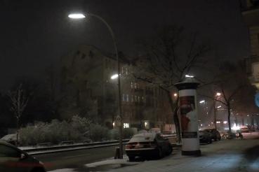 Schneewehe im Soldiner Kiez