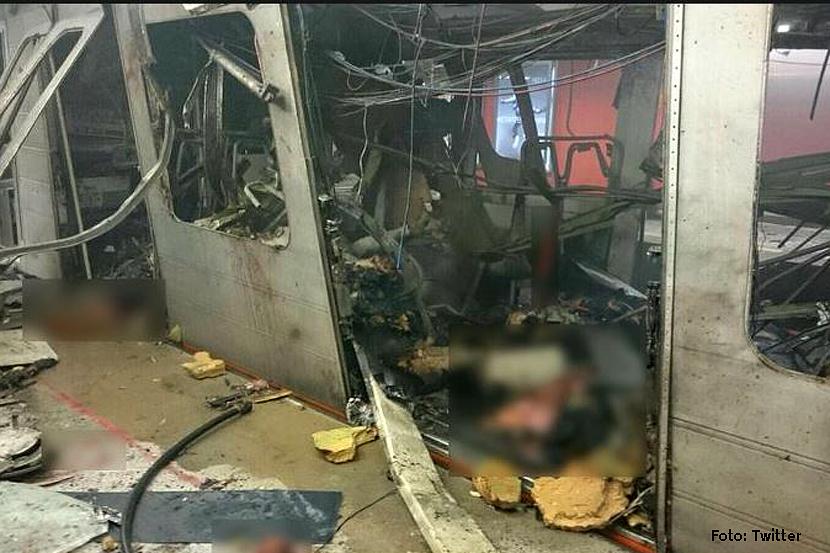 Anschlag Metro Station Brüssel