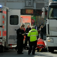 Älterer Mann in der Prinzenallee von LKW überfahren - Tot