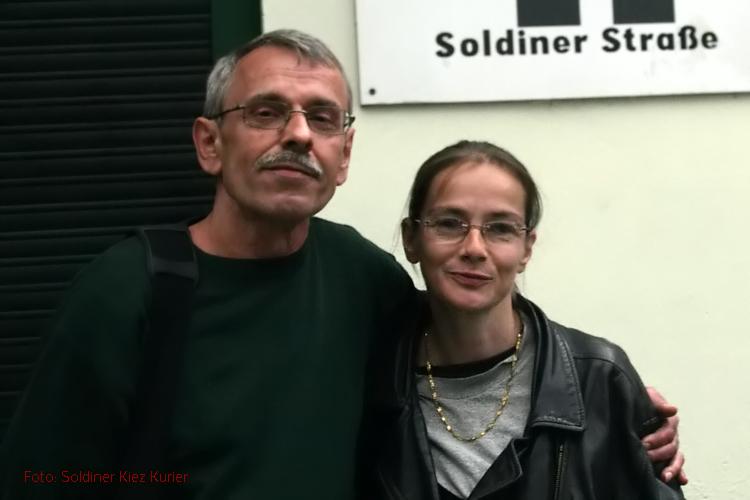 Anne und Gerd Kiezläufer im Soldiner Kiez (3)