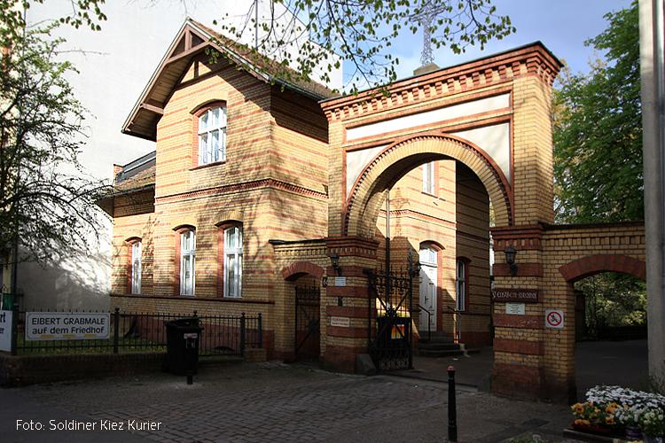 Eingangstor Friedhof Elisabeth Kirchhof Wollankstraße Soldiner Kiez