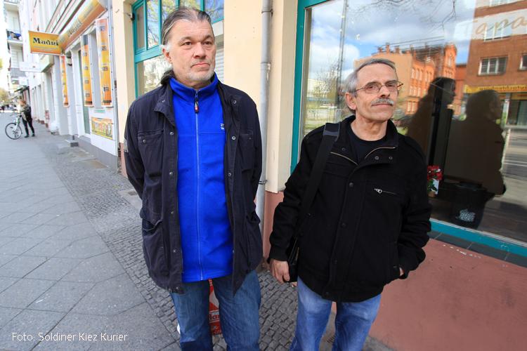 Kiezläufer Gerd und Franz im Soldiner Kiez