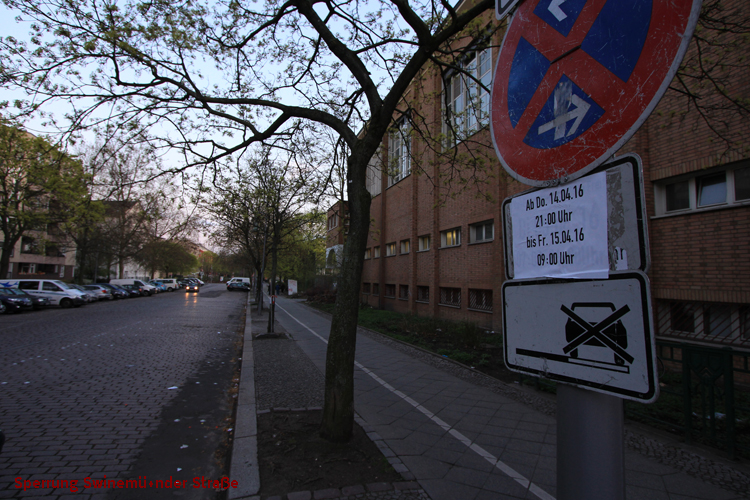 Parkverbot Sperrung Swinemünder Brücke Straße (2)