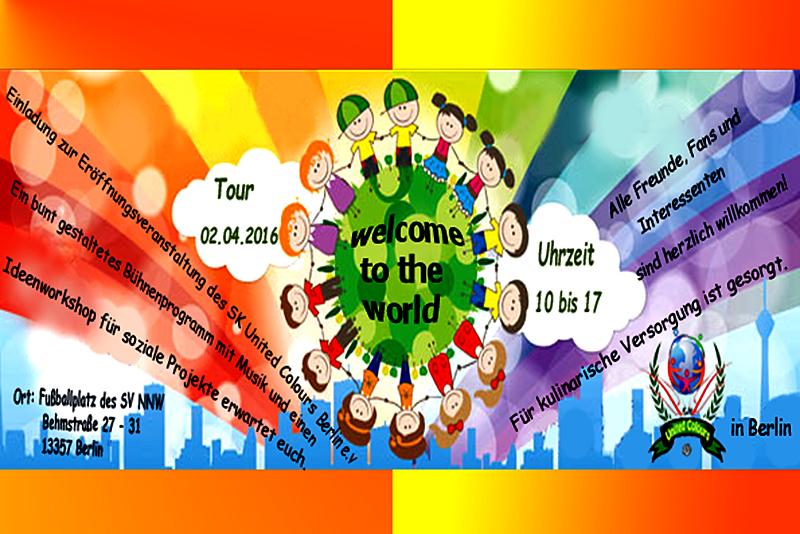 WELCOME TO THE WORLD United Colours für Toleranz und Integration