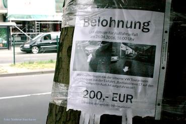Belohnung Unfallzeuge Badstraße