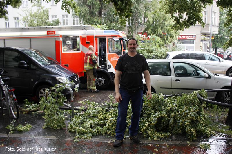Feuerwehr entfernt morschen Ast in Prinzenallee   (5)
