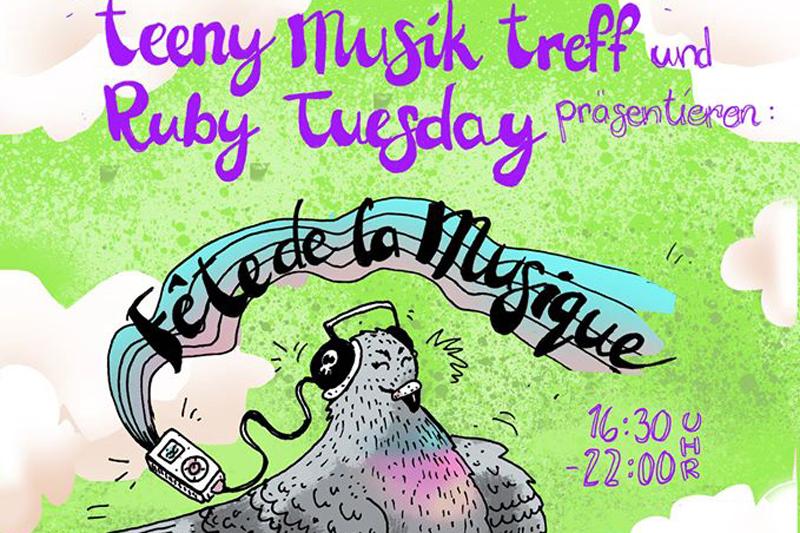 Teeny Musik Treff Ruby Tuesday Fête de la Musique titel