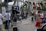Filmdreh Präsident Aserbaidschan İlham Əliyev Stettiner Brücke Berlin (1)