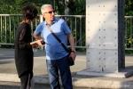 Filmdreh Präsident Aserbaidschan İlham Əliyev Stettiner Brücke Berlin(11)