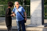 Filmdreh Präsident Aserbaidschan İlham Əliyev Stettiner Brücke Berlin (11)