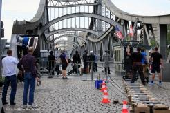 Filmdreh Präsident Aserbaidschan İlham Əliyev Stettiner Brücke Berlin (3)