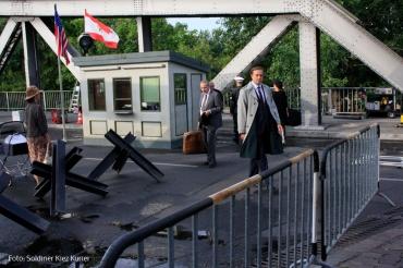 Filmdreh Präsident Aserbaidschan İlham Əliyev Stettiner Brücke Berlin (4)