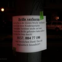 Brille verloren auf Spielplatz Soldiner Straße