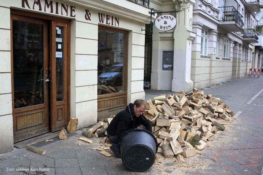 Holzaktion im Kamine und Wein (1)