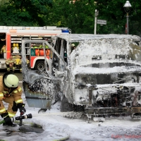 Kleintransporter brannte aus