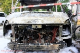 Kleintransporter Zechliner Straße Ecke Stockholmer Straße brannte aus (6)