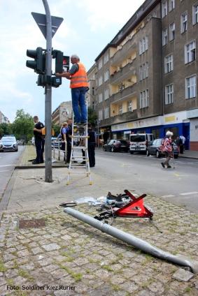 Unfall Kreuzung Osloer Strasse Prinzenallee (9)