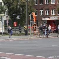 Blindenampeln an der Kreuzung Osloer Straße erneuert