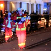 Wohnhaus brennt in Stettiner Straße