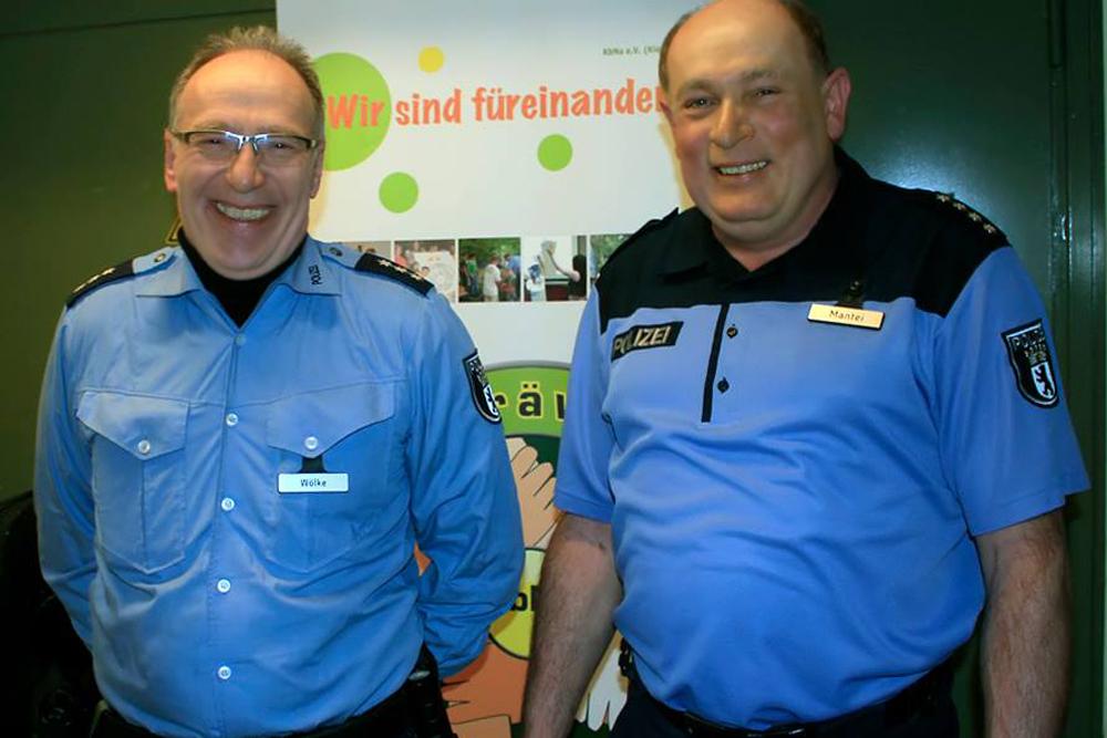 Bernd Wölke und Eckart Mantei Polizei Titel