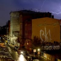 Wilhelm-Hauff Grundschule vom Blitz getroffen