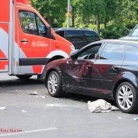 Schwerer Unfall mit Rollerfahrer