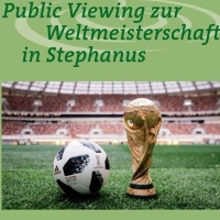 Public Viewing zur Fußball-WM in Stephanus