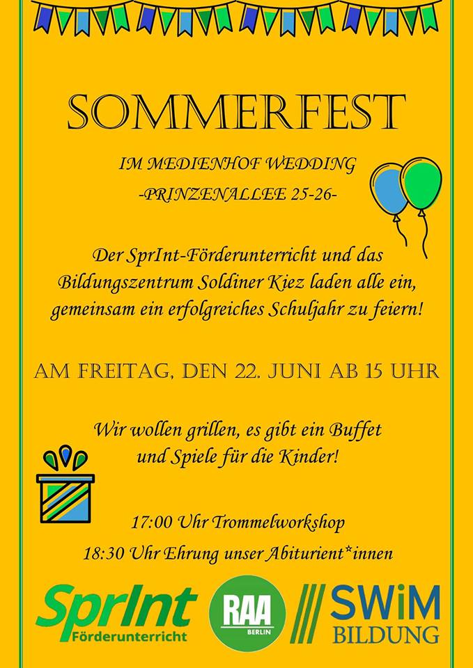 Sommerfest im Medienhof Prinzenallee