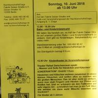 Trödelmarkt und Kindertheater in der NachbarschaftsEtage Fabrik Osloer Straße