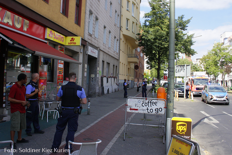 austretendes Gas in Prinzenallee