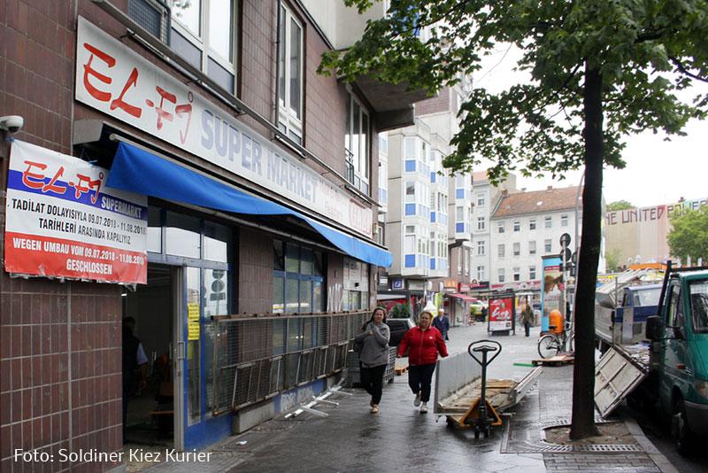 Umbau El Fi supermarkt Prinzenallee (1)