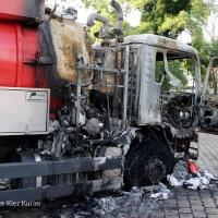 Kacke am Dampfen - Fäkalien Pumpfahrzeug brennt an der Kolonie Panke