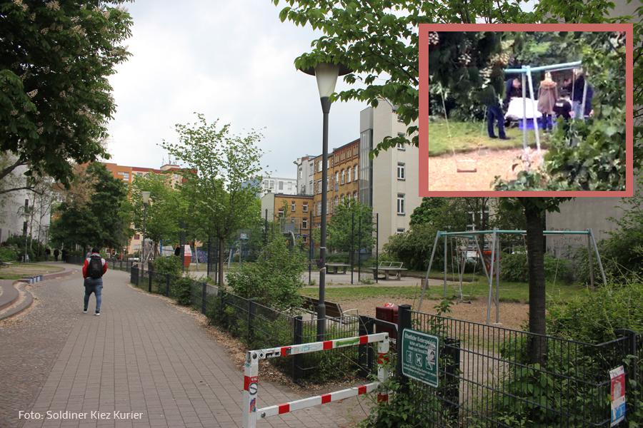Leichenfund Spielplatz Drontheimer Straße