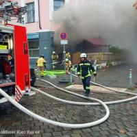 Bellermannstraße Ecke Grüntaler Feuer in Lokal