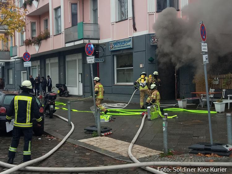 grüntaler ecke bellermannstraße feuer im Lokal (2)