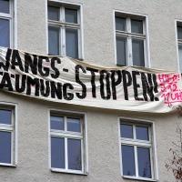 Soldiner Straße Kundgebung gegen Räumung
