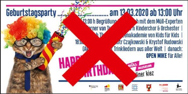Geburtstagsparty Müllmuseum abgesagt.JPG