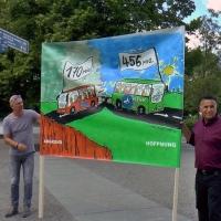 Busretten Demo hupte sich durch Berlin