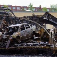 6 Lagerhallen in Tegel brannten