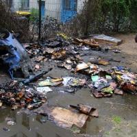 Müllcontainer brannte in der Zechliner Straße