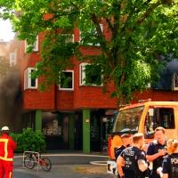 Balkonbrand vernebelte die Prinzenallee