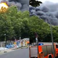 Explosion auf Dach in der Schönwalder Straße