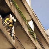 Balkon brennt in der Wollankstraße
