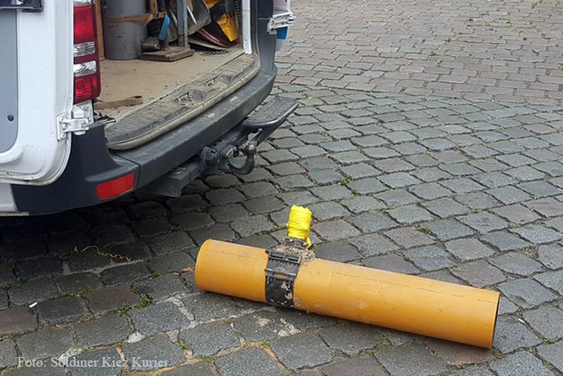 beschädigte Gaszuleitung Soldiner Straße